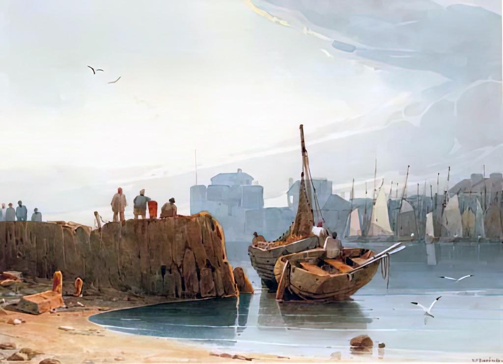 ???? Richard Parkes Bonington - The harbour, Le Havre