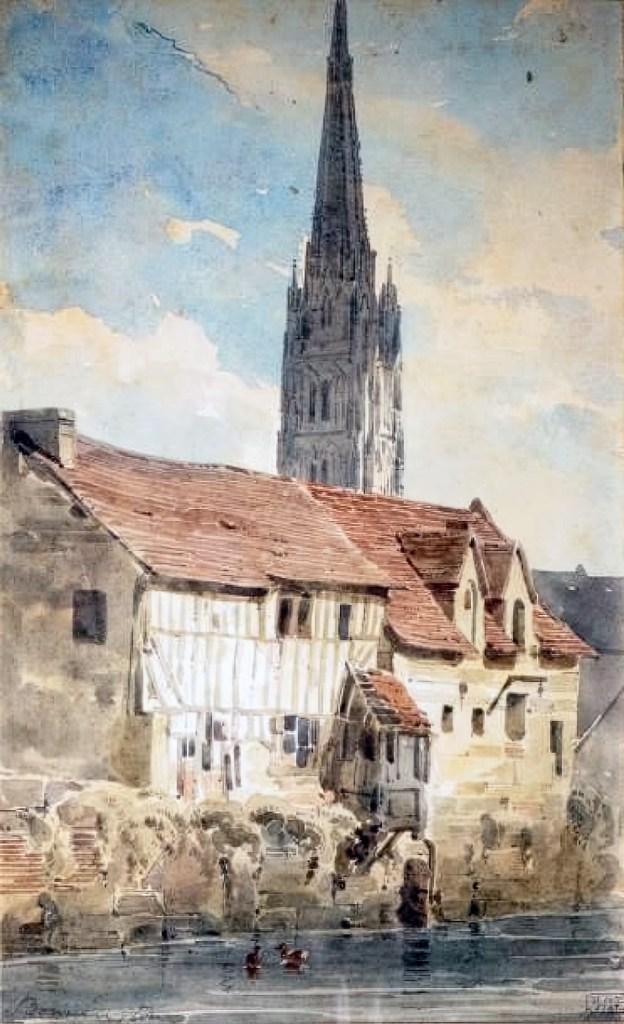???? - Bonington - View of Harfleur in Normandy