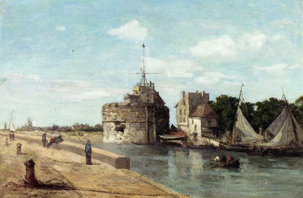 1854 Eugene Boudin - The Francois I Tower at Le Havre