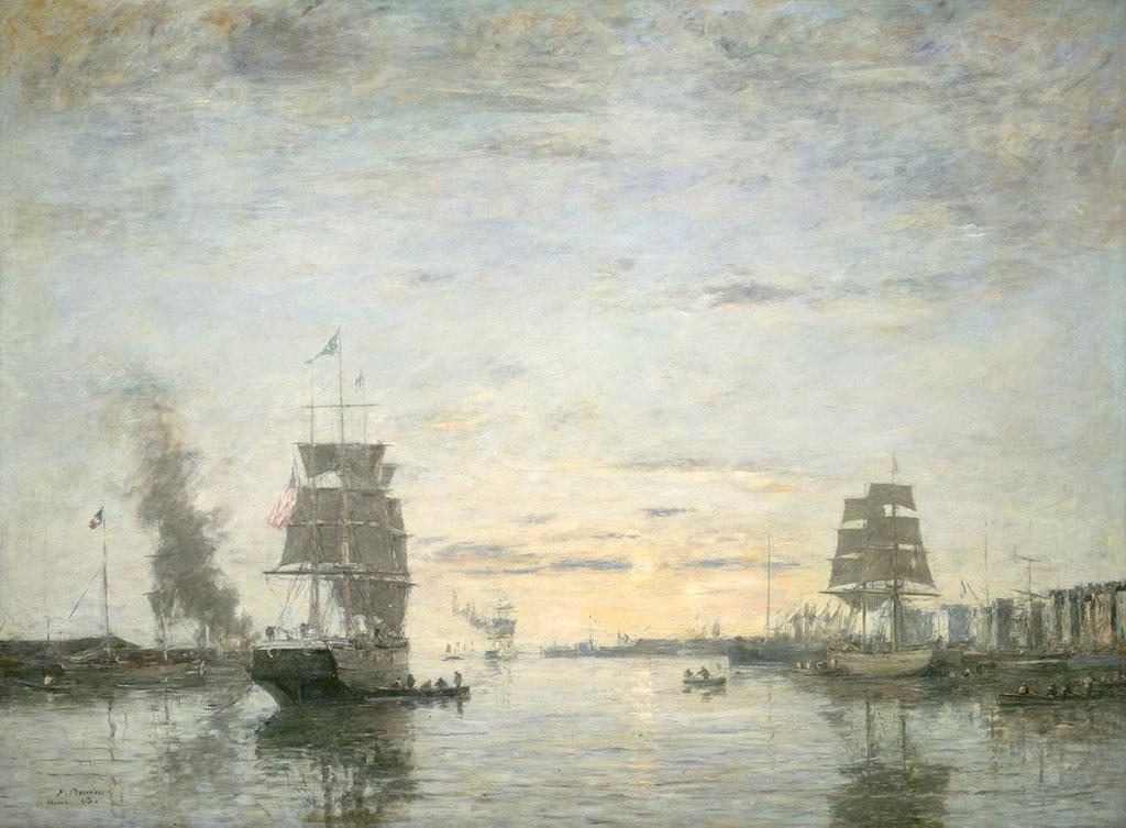 1883 Eugene Boudin - Entrance to the Harbor, Le Havre