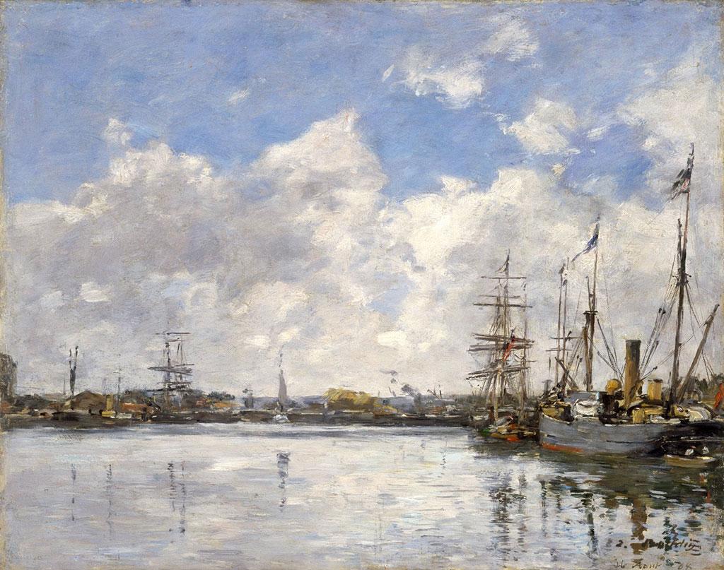 1884 Eugene Boudin - The Port