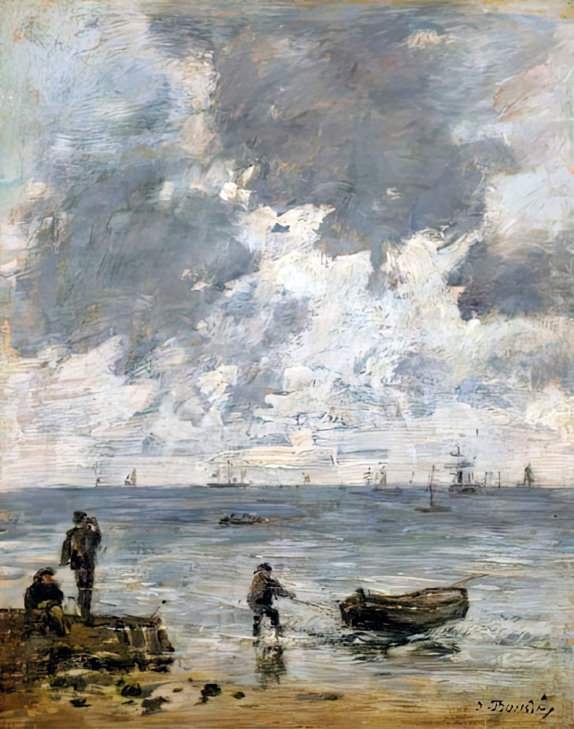 1885 Eugene Louis Boudin - Le Havre. The sea at sunset