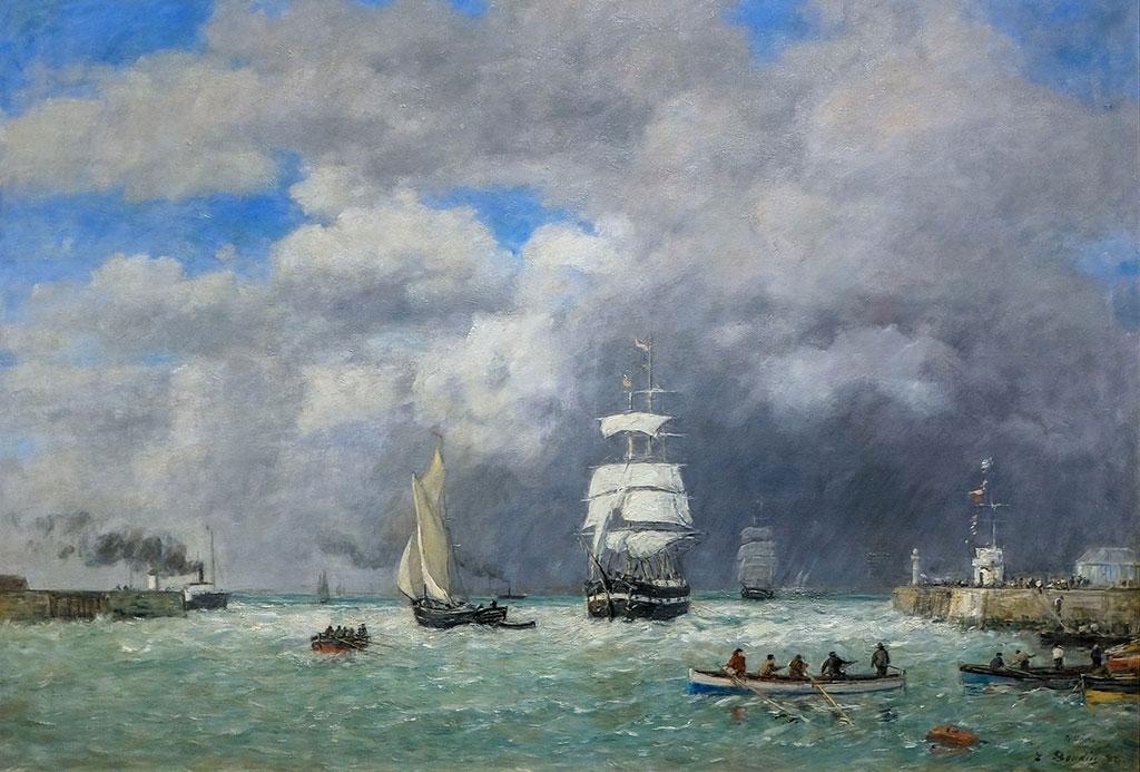1888 Eugene Boudin - Entrance to the Port