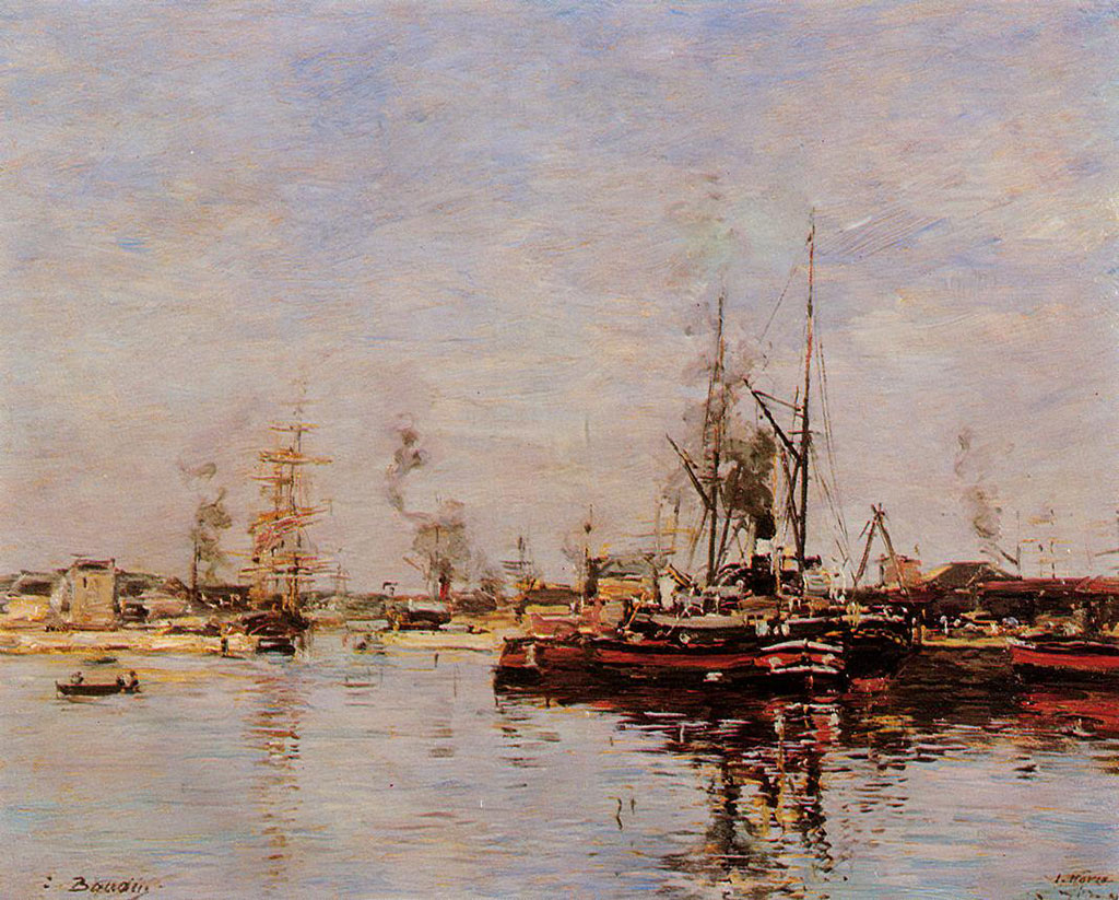 1889 Eugene Boudin - Entrance to the Port of Le Havre