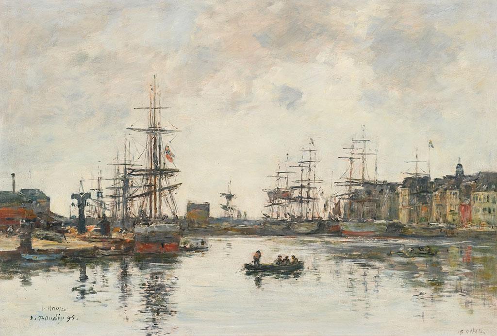 1895 Eugene Boudin - The Basin De La Barre