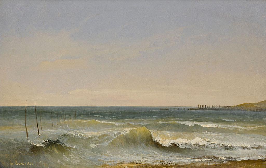 1831 - Jules Coignet - Breaking Waves at Le Havre