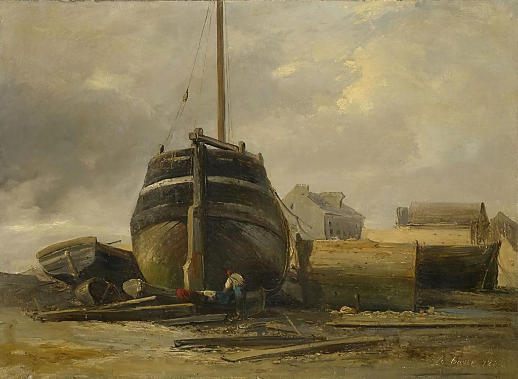 1831 - Jules Coignet - Shipyard at Le Havre
