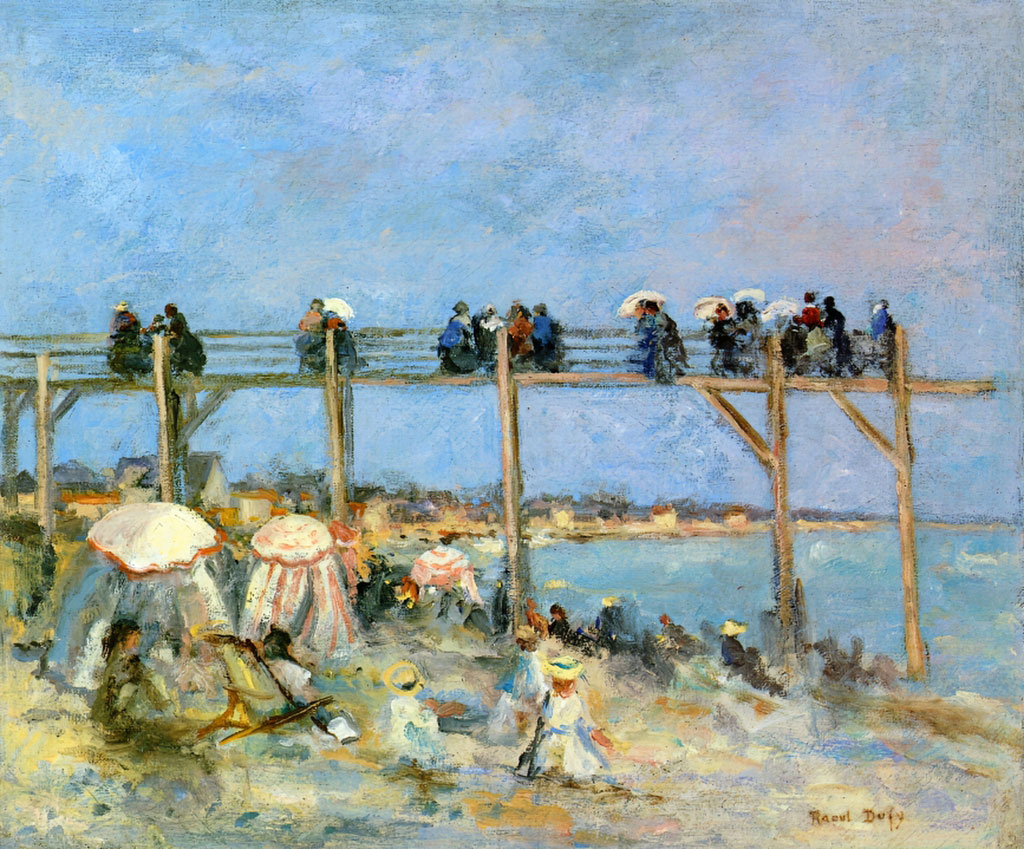 1902 Raoul Dufy - The Beach at Sainte-Adresse
