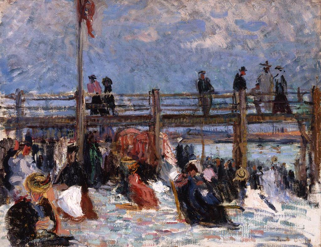 1904 Raoul Dufy - On the Beach at Sainte-Adresse