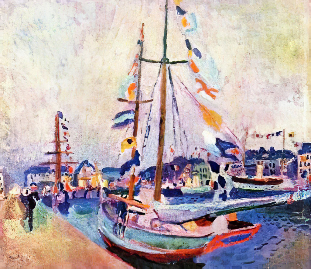 1904 Raoul Dufy - Yacht with Flags at Le Havre