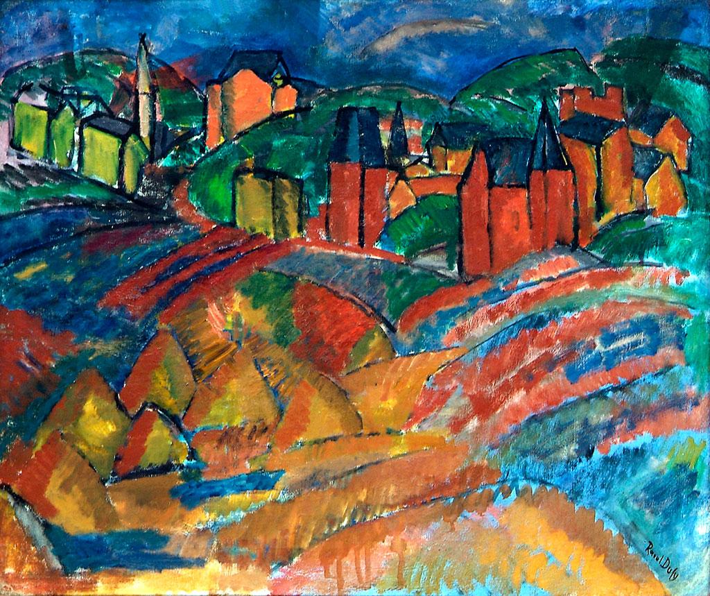 1908 Raoul Dufy - The Beach at Sainte-Adresse