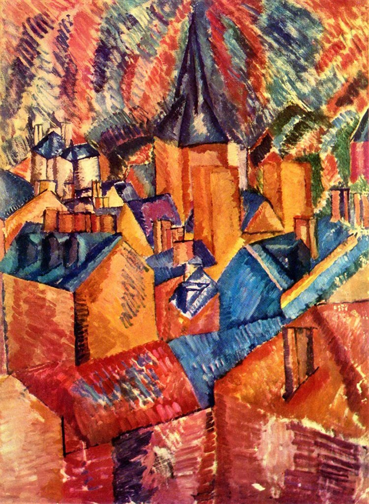1908 Raoul Dufy - The Church of St. Vincent at Le Havre