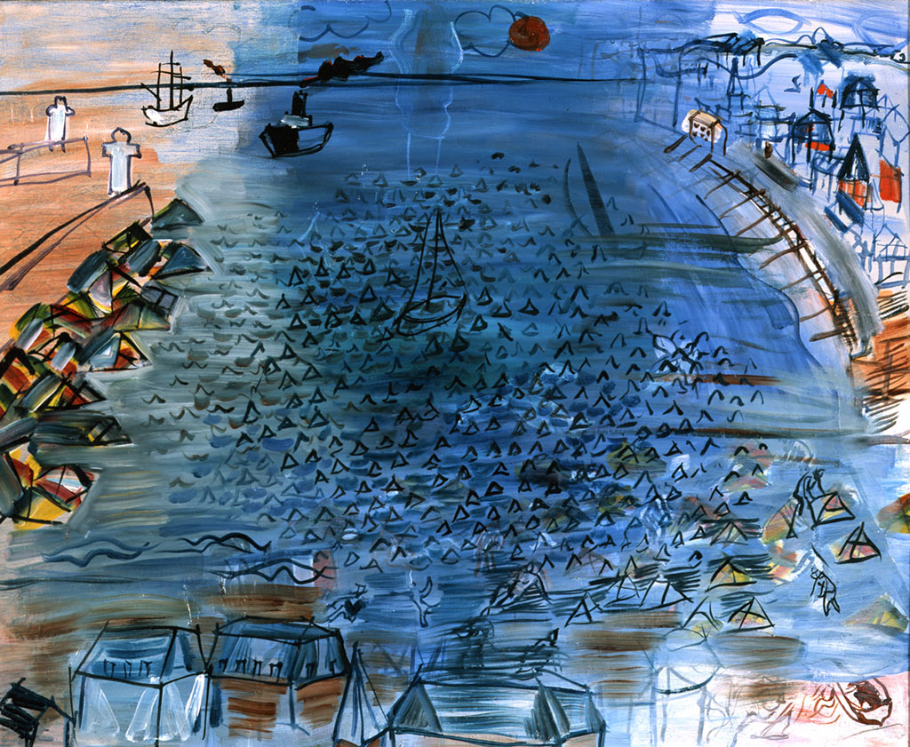 1935 Raoul Dufy - The Bay of Le Havre and Sainte Adresse
