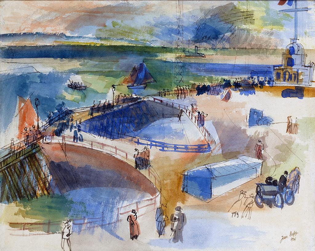 1924 Jean Dufy - John Kennedy Road in Le Havre