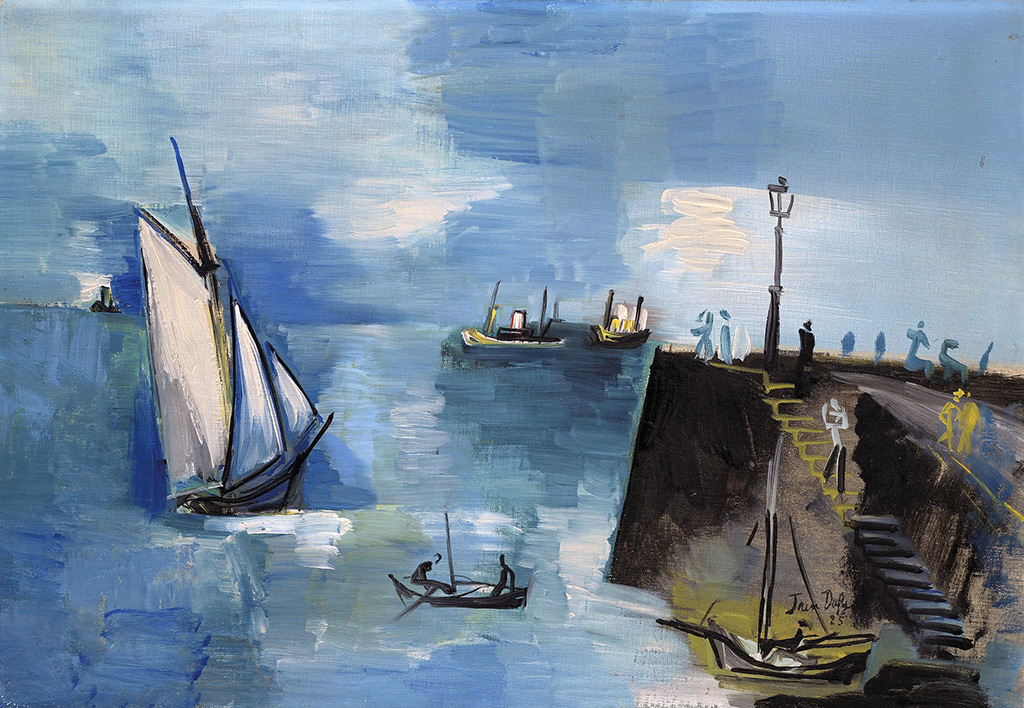 1925 Jean Dufy - Port of Le Havre