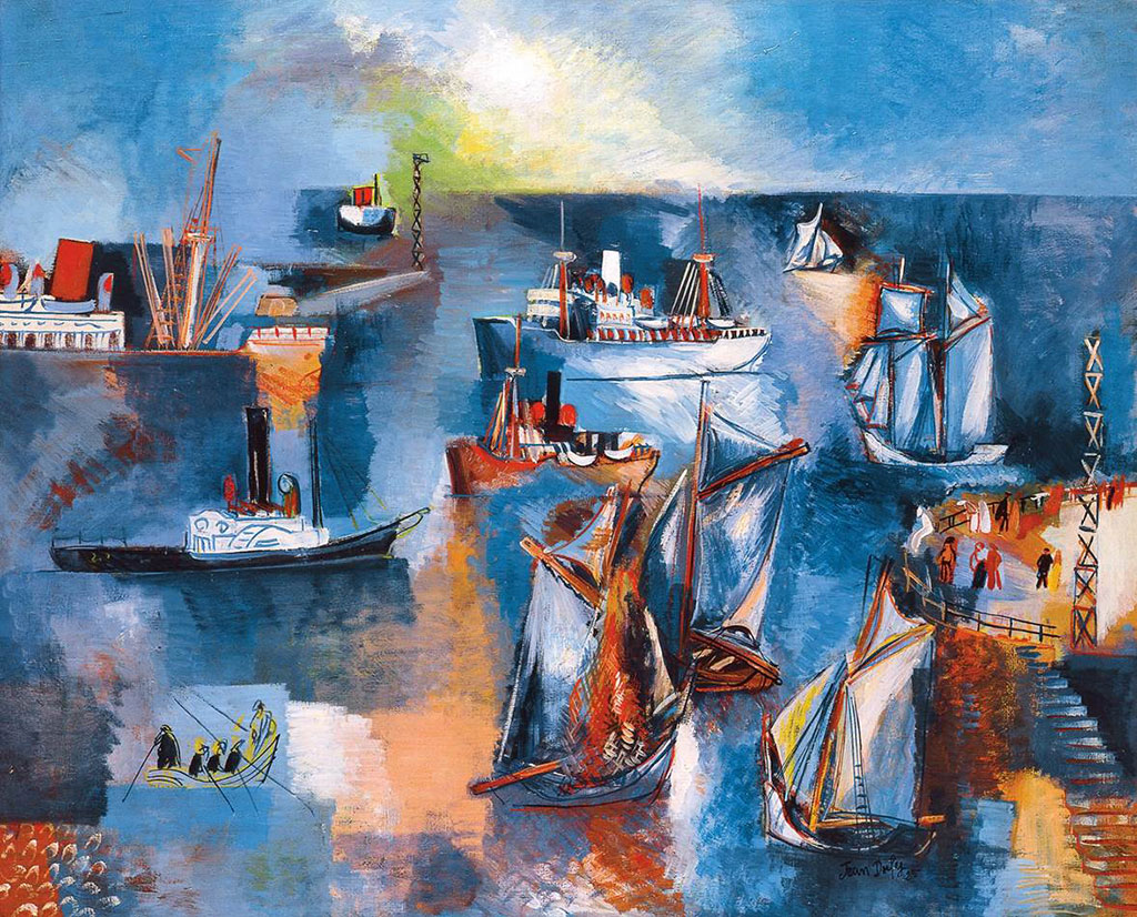1925 Jean Dufy - The La Manche Basin at Le Havre