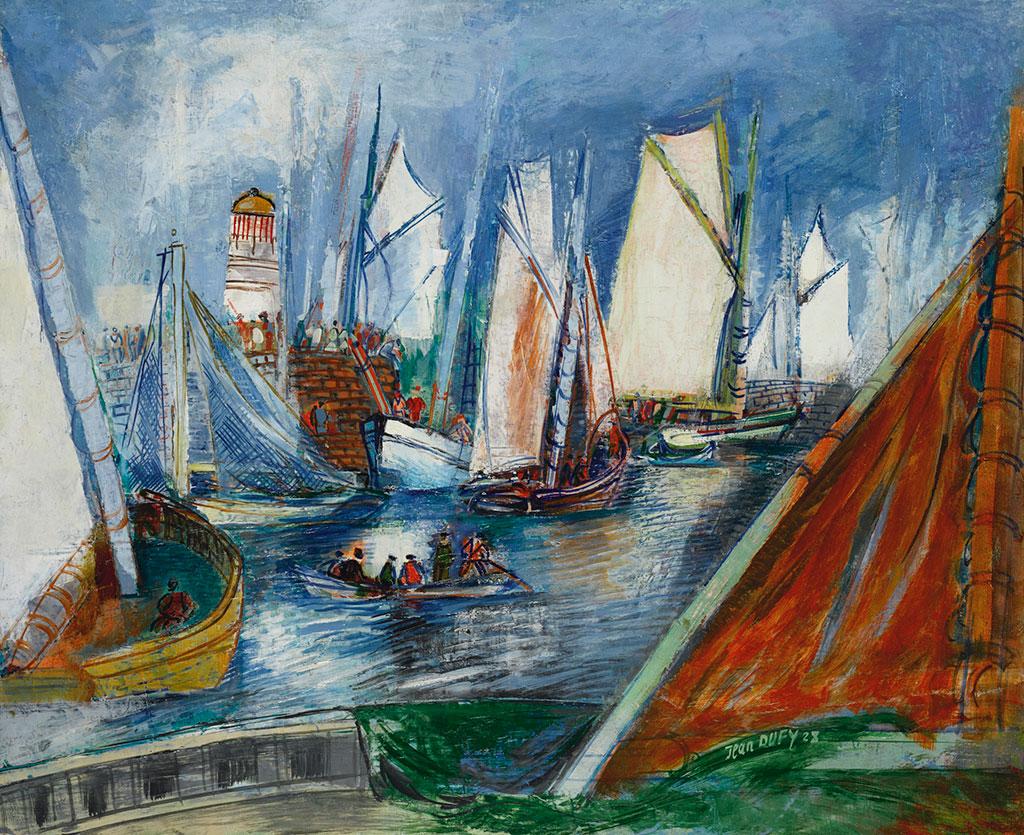 1928 Jean Dufy - Port, Le Havre