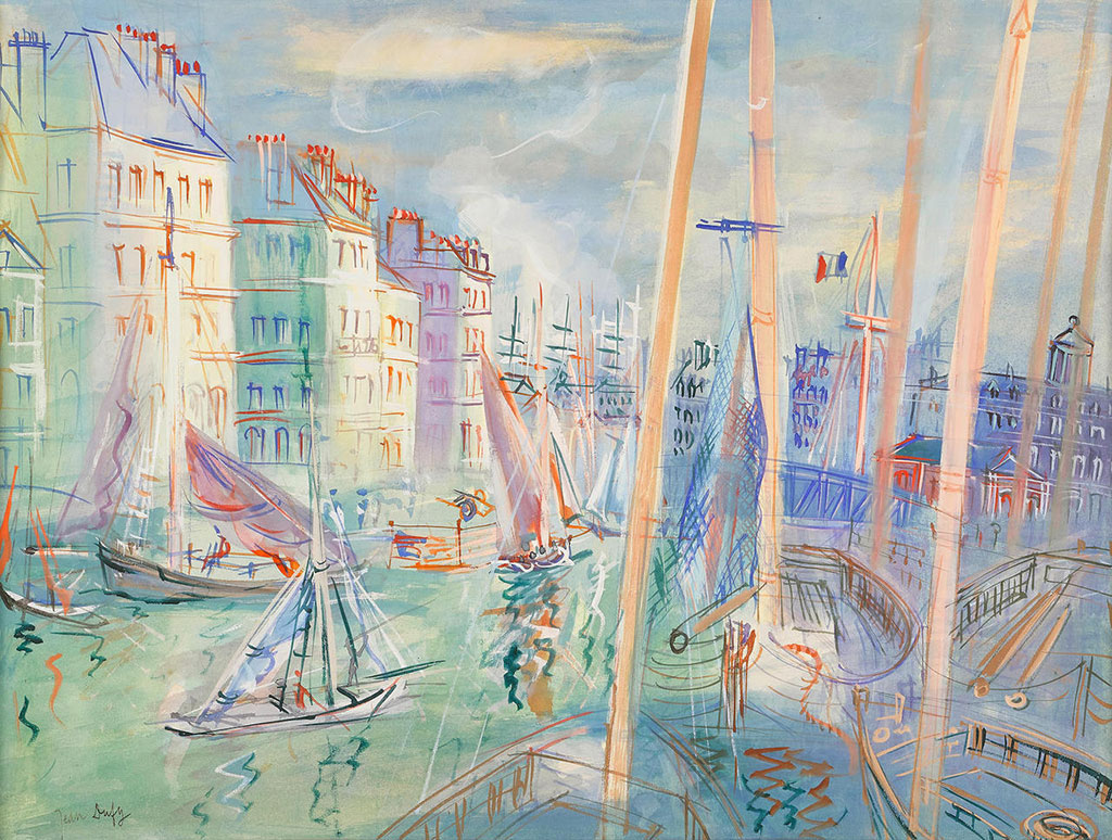 1938 Jean Dufy - The Quai Videcoq at Le Havre