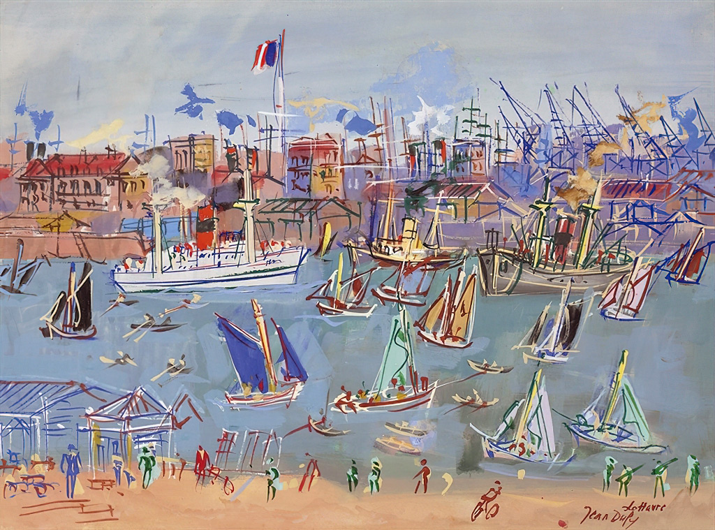 1955 Jean Dufy - Le Havre