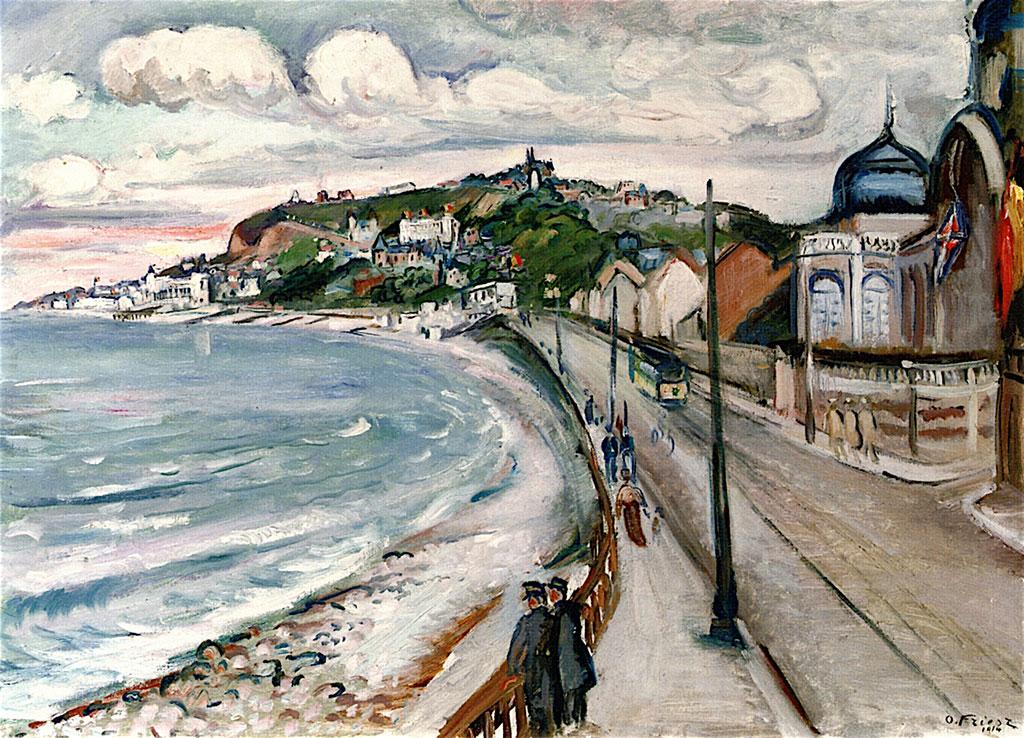 1914 - Othon Friesz - By the Sea the Promenade at Sainte Adresse