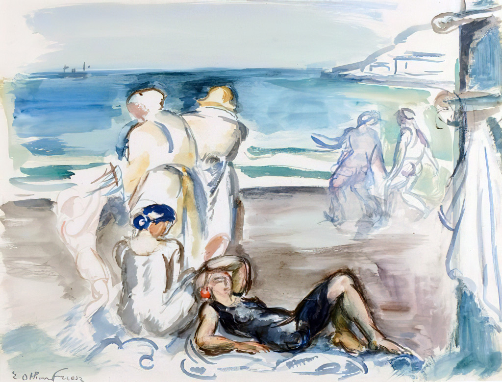 ???? - Othon Friesz - Bather on the beach of Le Havre