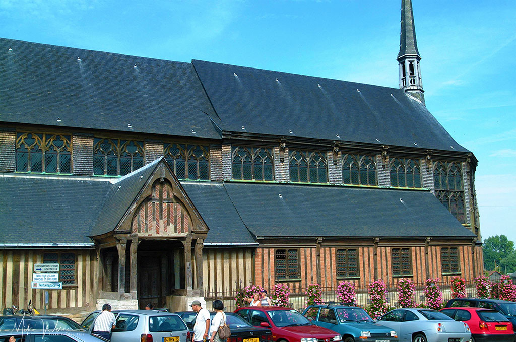 The mostly wooden nave of the Saint-Catherine church in Honfleur, Normandy