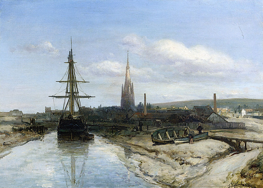 1850 Johan Jongkind - Harfleur