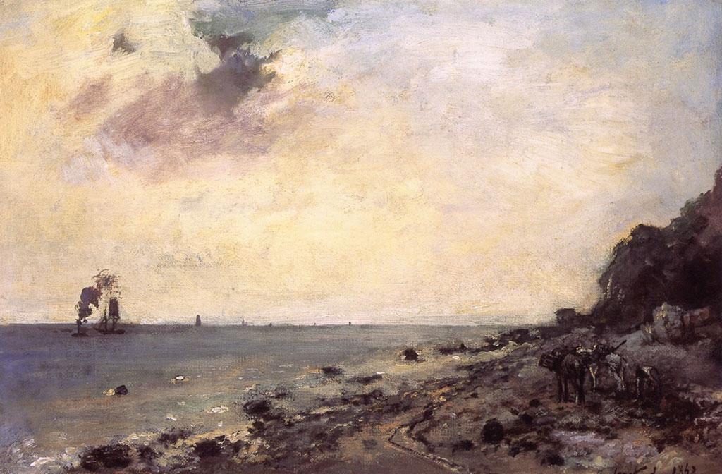 1862 Johan Jongkind - Seacoast at Sainte-Adresse