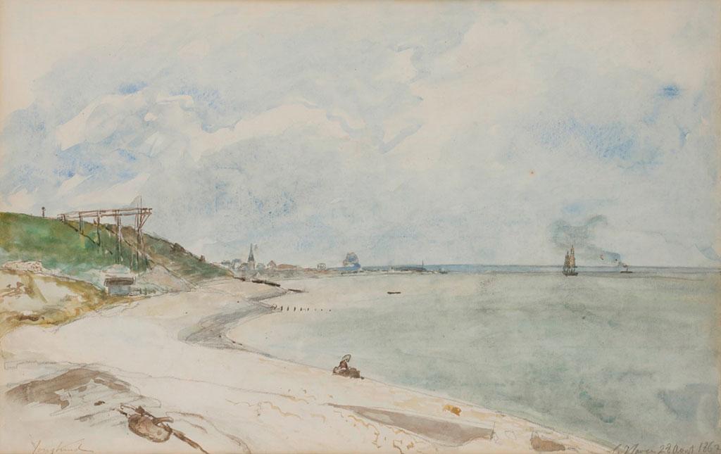 1862 Johan Jongkind - View-from-the-beach,-Le-Havre