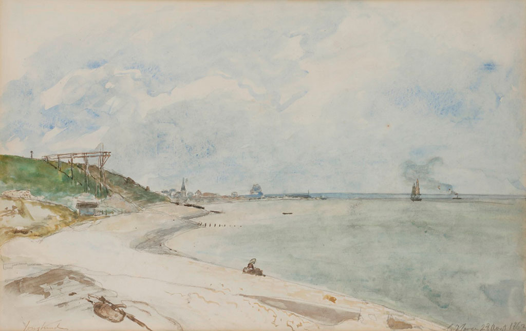 1862 Johan Jongkind - View-from-the-beach,-Le-Havre