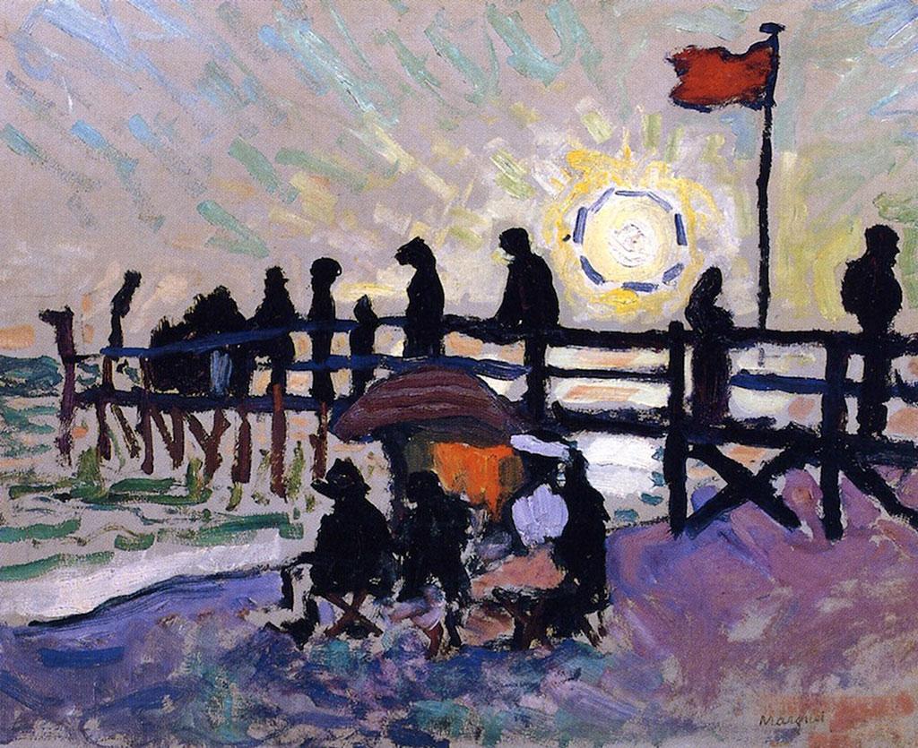 1905 Albert Marquet - The Pier at Sainte-Adresse