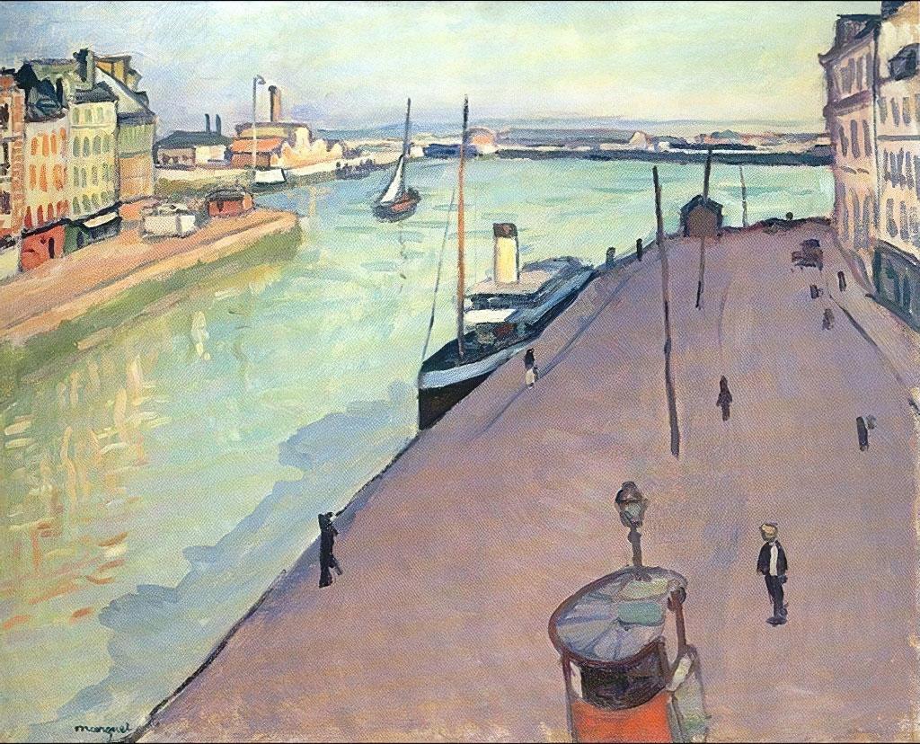 1911 Albert Marquet - View of the Port of Le Havre (Le Quai de notre Dame)