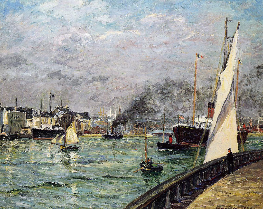 Maxime Maufra 1905 - Departure of a Cargo Ship, Le Havre