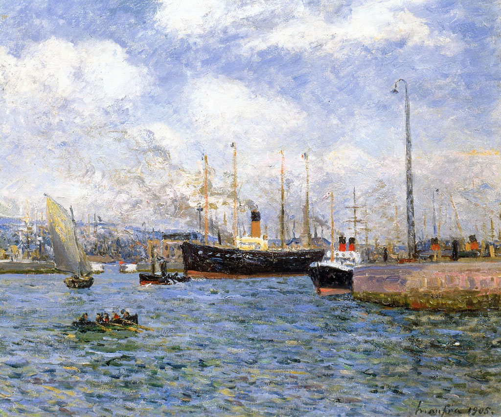 Maxime Maufra 1905 - Departure of a Transport at Le Havre