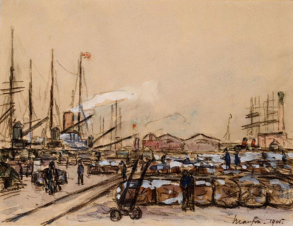 Maxime Maufra 1905 - Quayside in Le Havre