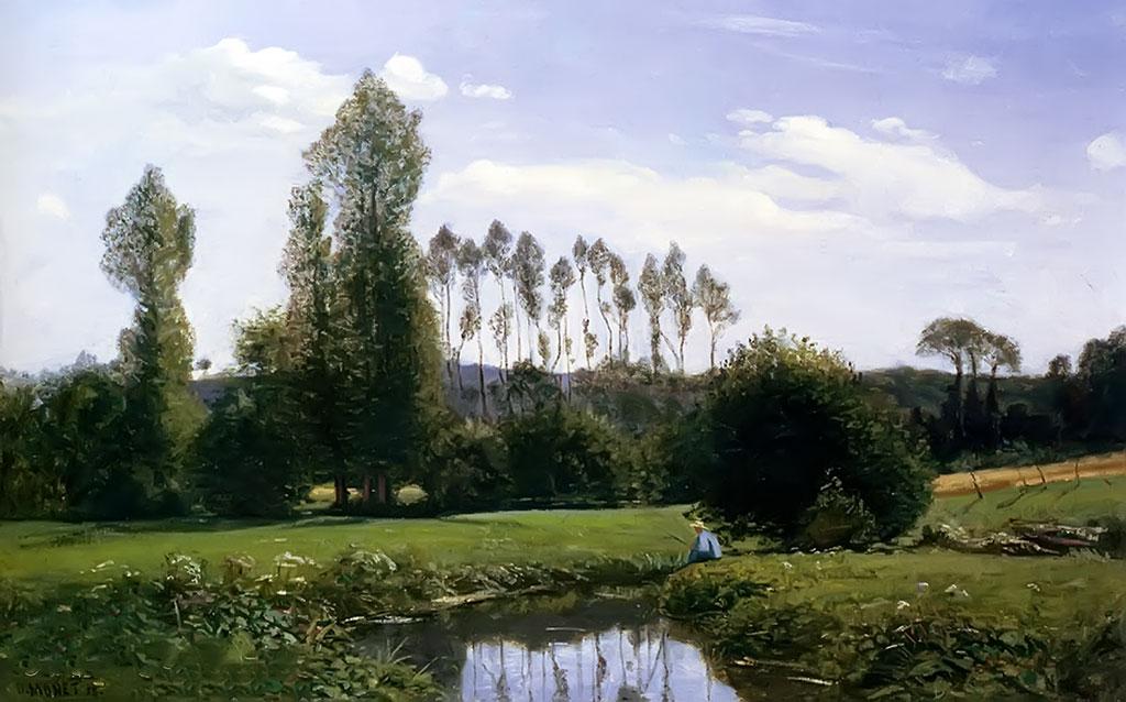1858 Claude Monet - View at Rouelles (ed: public park in Le Havre)