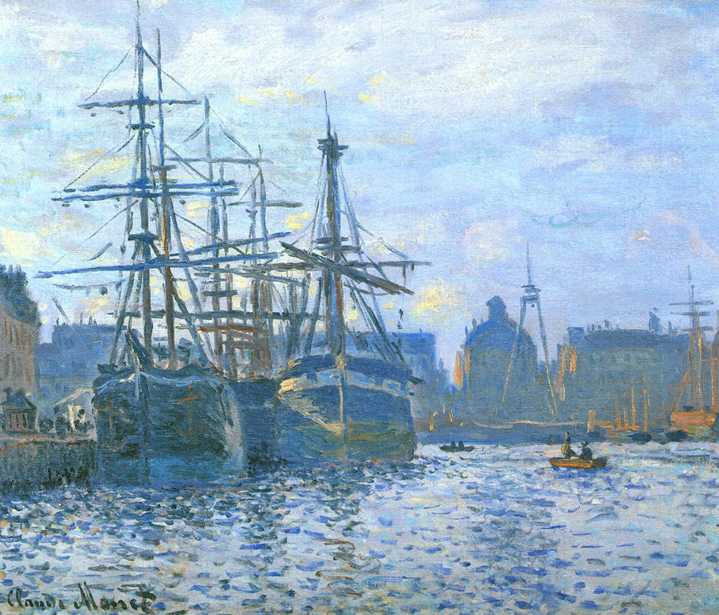 1874 Claude Monet - Le Bassin du Commerce