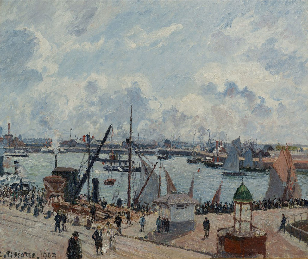Camille Pissarro 1903 - Outer Harbour, Morning, Sun Tide