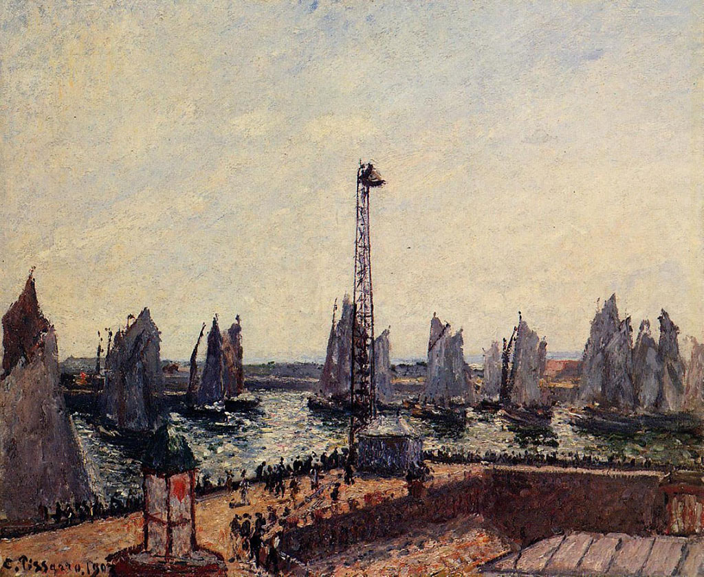Camille Pissarro 1903 - The Inner Port and Pilot Jetty