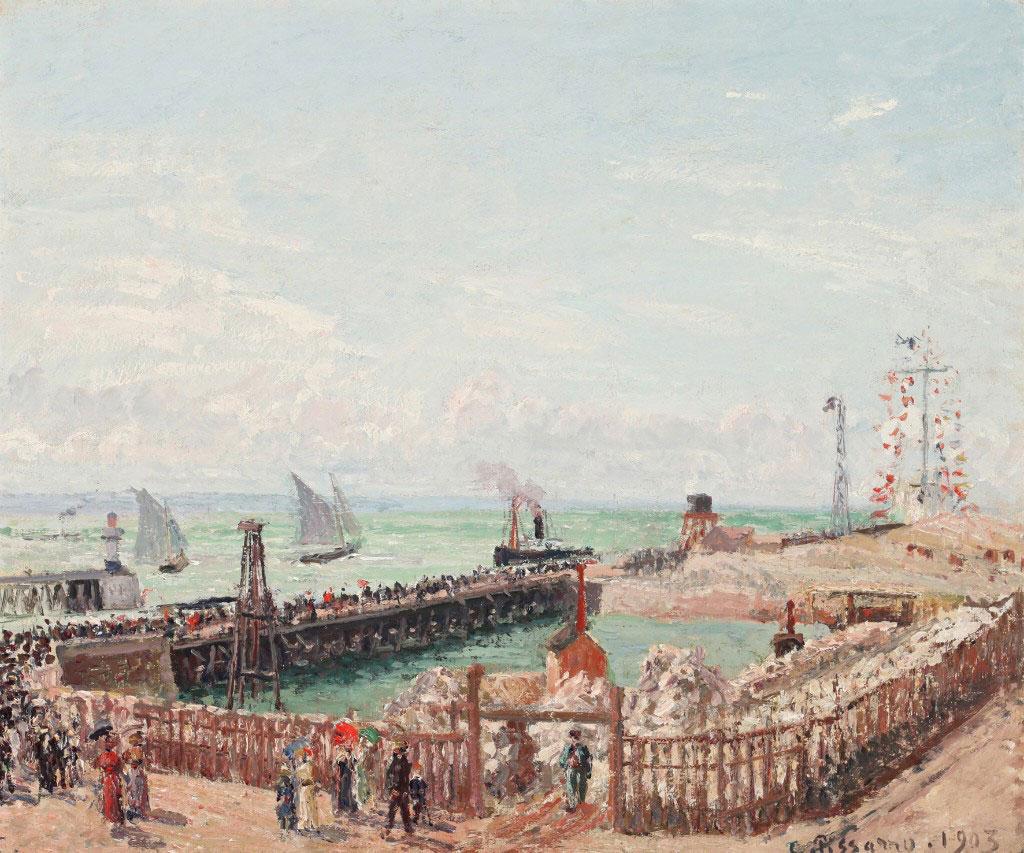 Camille Pissarro 1903 - The Jetty, High Tide Morning Sun