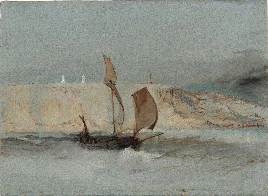 William Turner 1832 - A Ship Under Sail below the Light Towers of la Heve