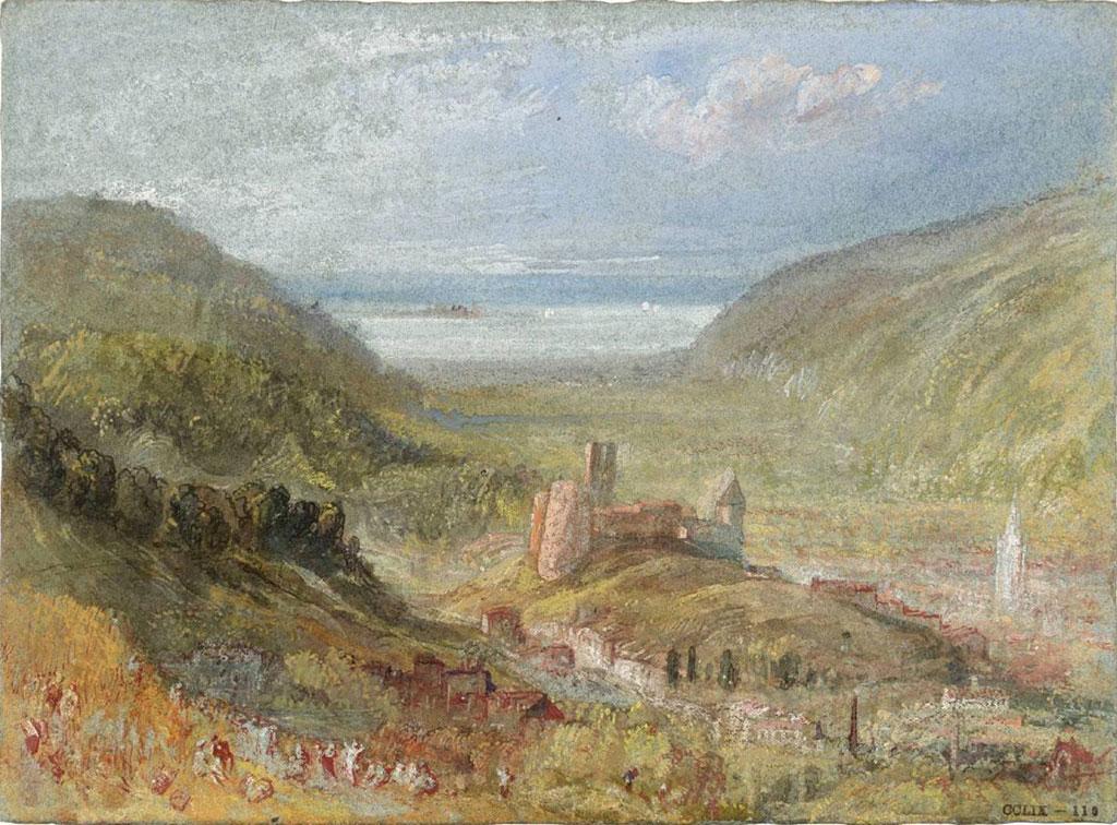 William Turner 1832 - Lillebonne, Looking towards the Seine