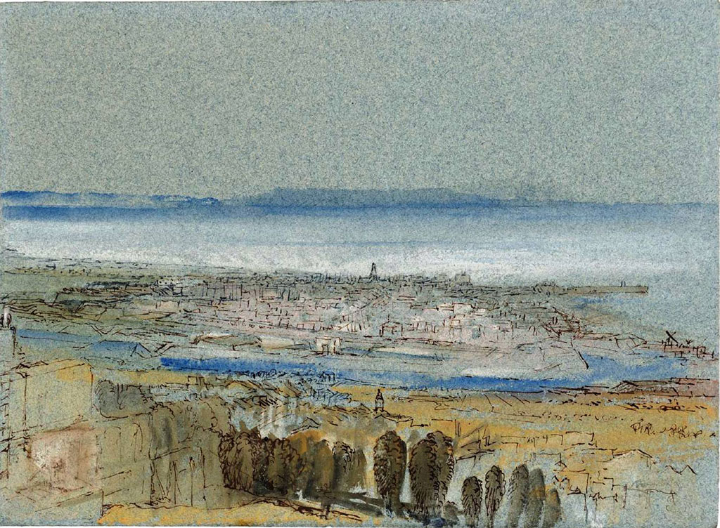 William Turner 1832 - View of Le Havre and the Seine Estuary from the Heights of Sainte Adresse