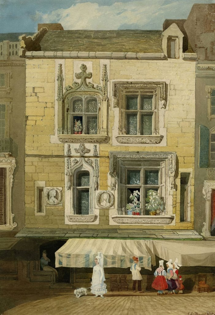 John Cotman 1818 - Old house in the Rue St-Jean at Caen