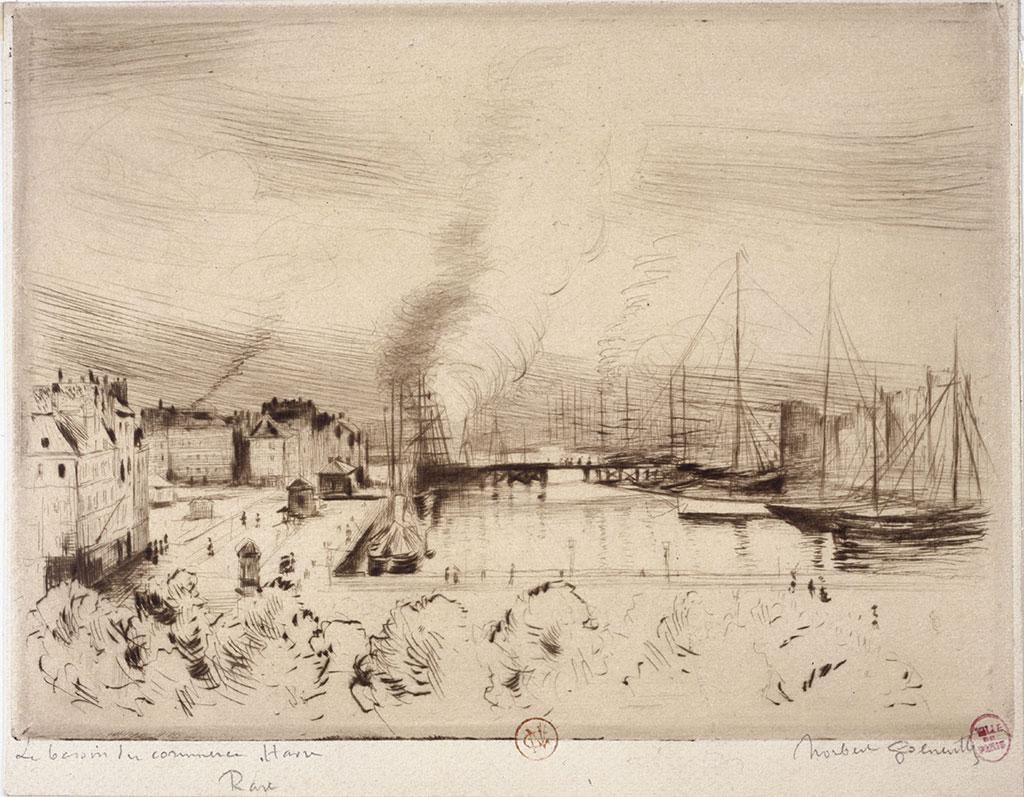 1892 - Norbert Goeneutte - The Trade Basin at Le Havre