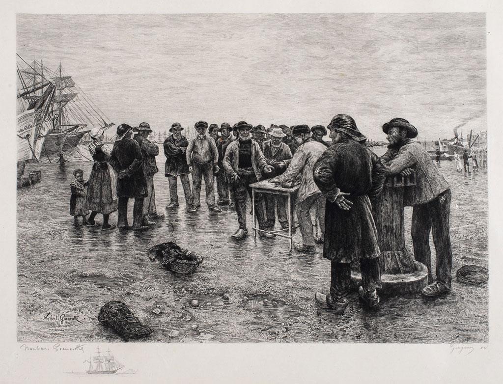 1882 - Norbert Goeneutte - The-Boat Haulers of Le Havre