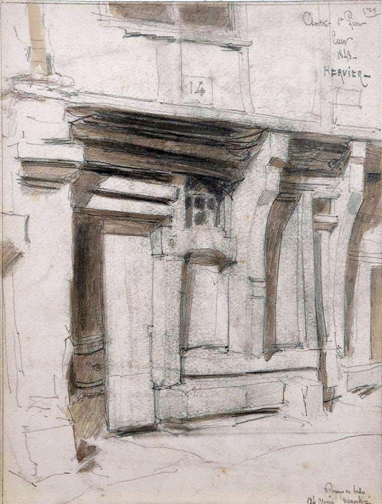 ???? - Louis Hervier  - Basement of a house in Caen