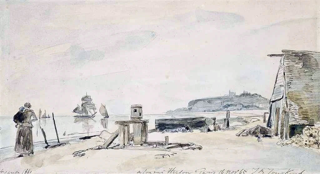 1861 - Johan Jongkind - The coast at Sainte-Adresse