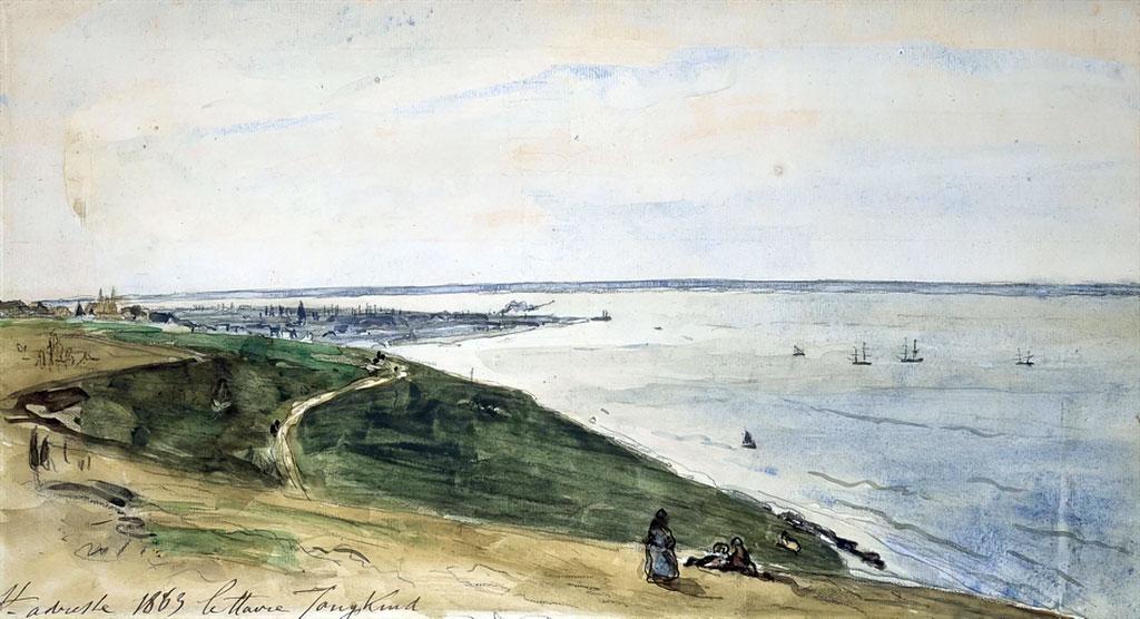 1863 - Johan Jongkind - Sainte-Adresse