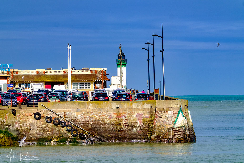 Le Treport lighthouse at the harbour entrance